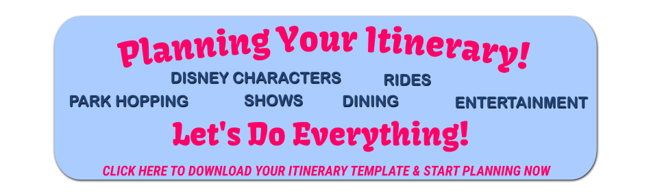 Disney Vacation Itinerary